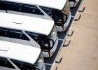 weiße Busse von oeben