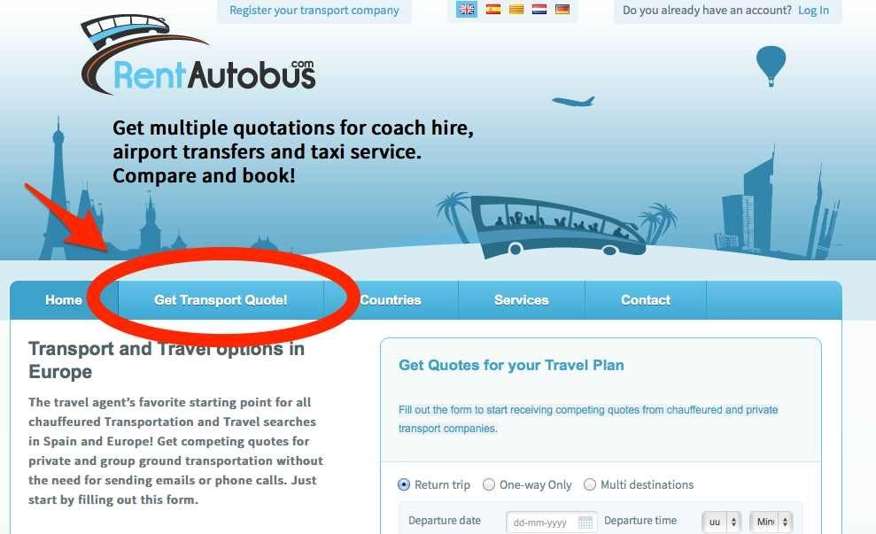 Request A Quote Button How to request a transport