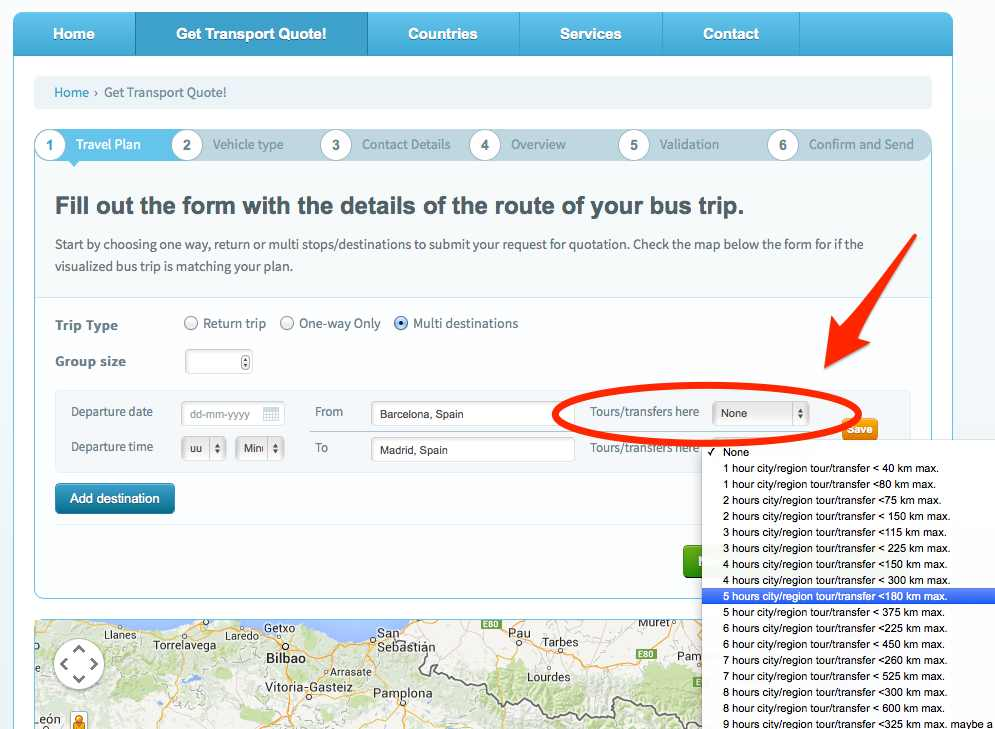 How to add a tour or transfer to your travel plan