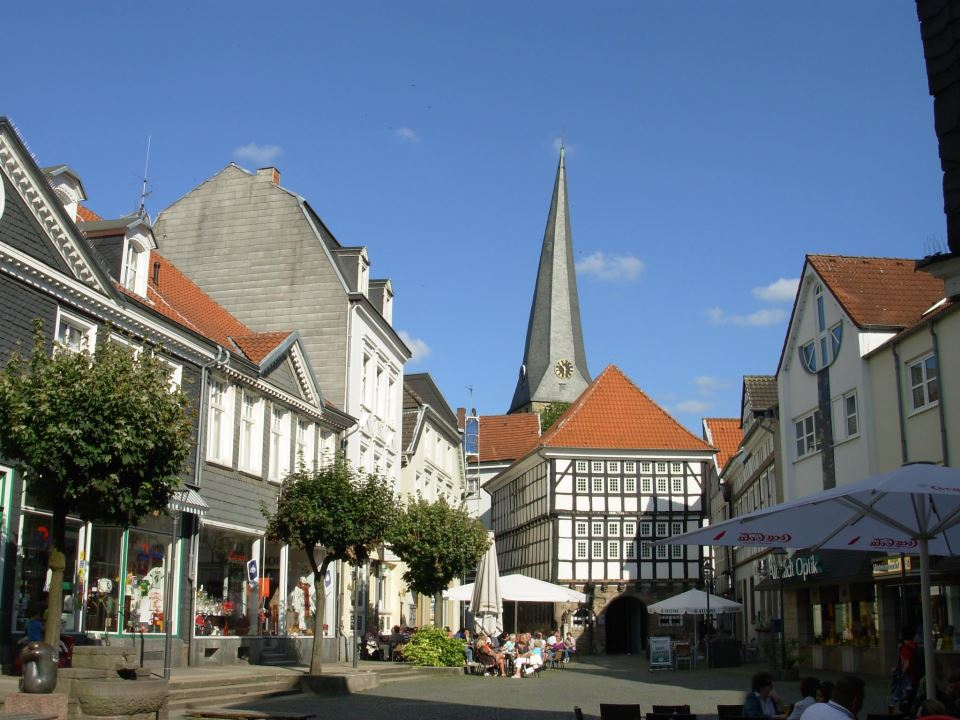 Old city in Hattingen in Nordhein Westfalen