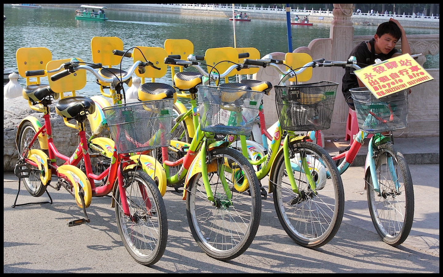 Bicycles for hire in Beijing's Beihai Park