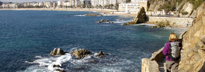 Camí de Ronda con vista al mar y ciutat