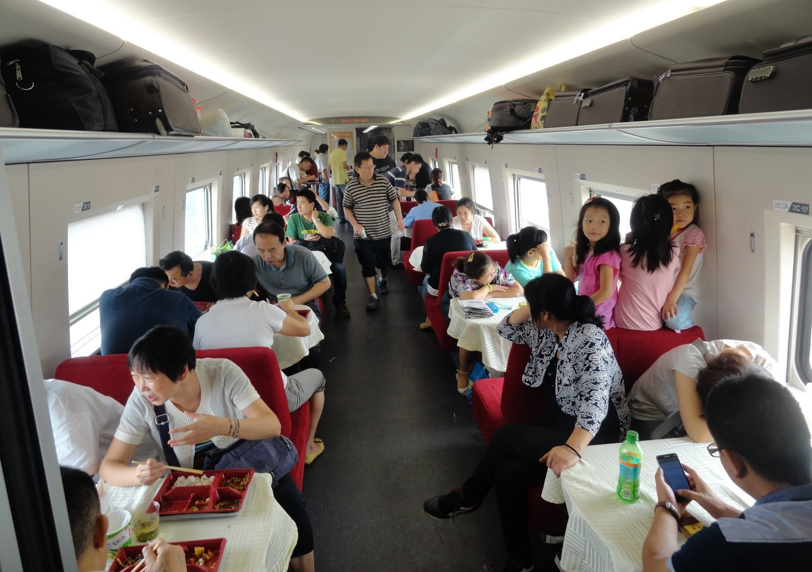Dining Car, G category high speed train, Xian to Beijing route