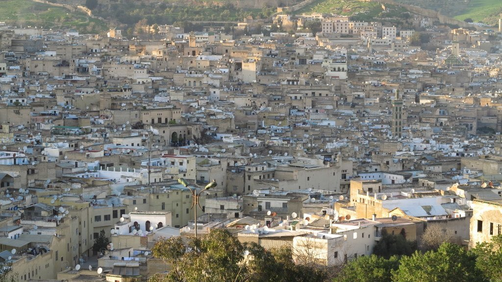 Aerial view of Fez