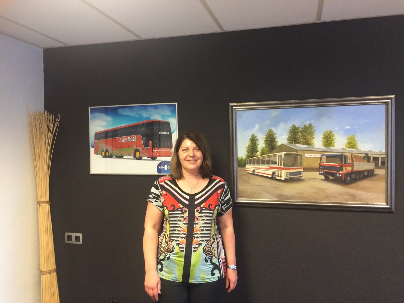 Coach and bus hire operator mrs. Astrid de Jong from Van Mook