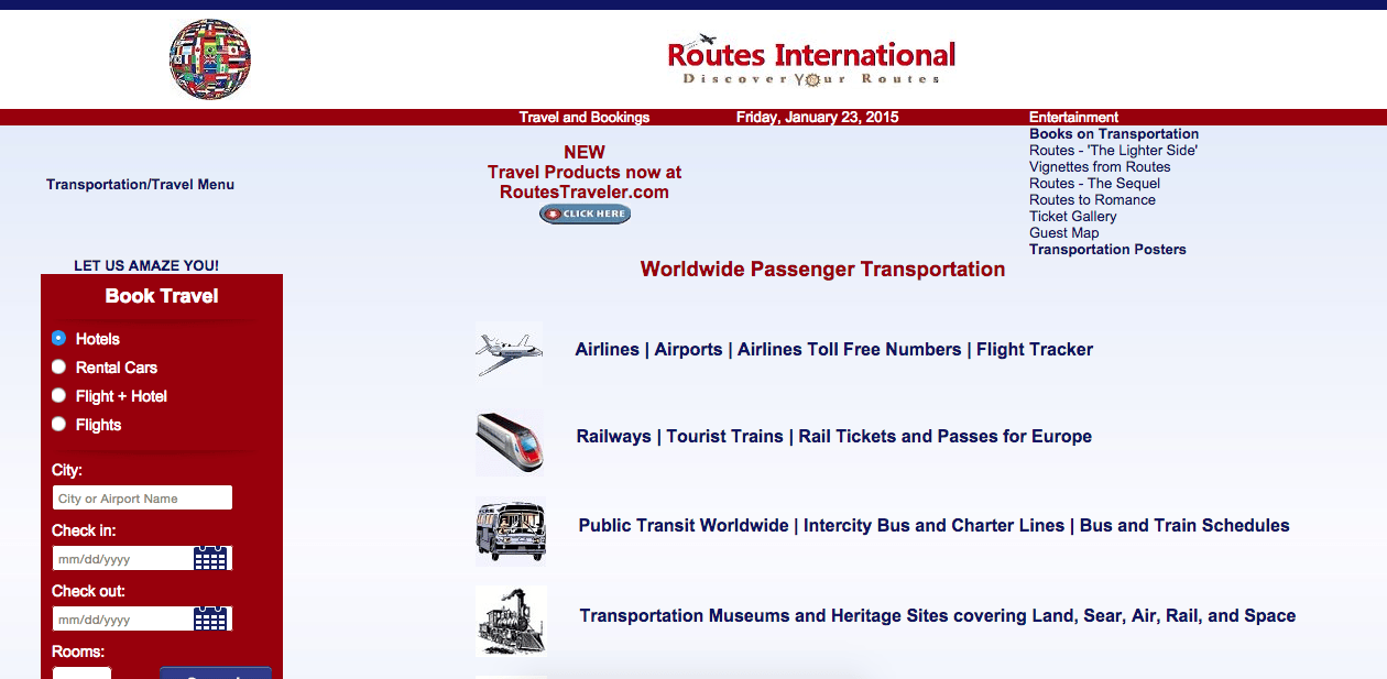Homepage of routesinternational.com