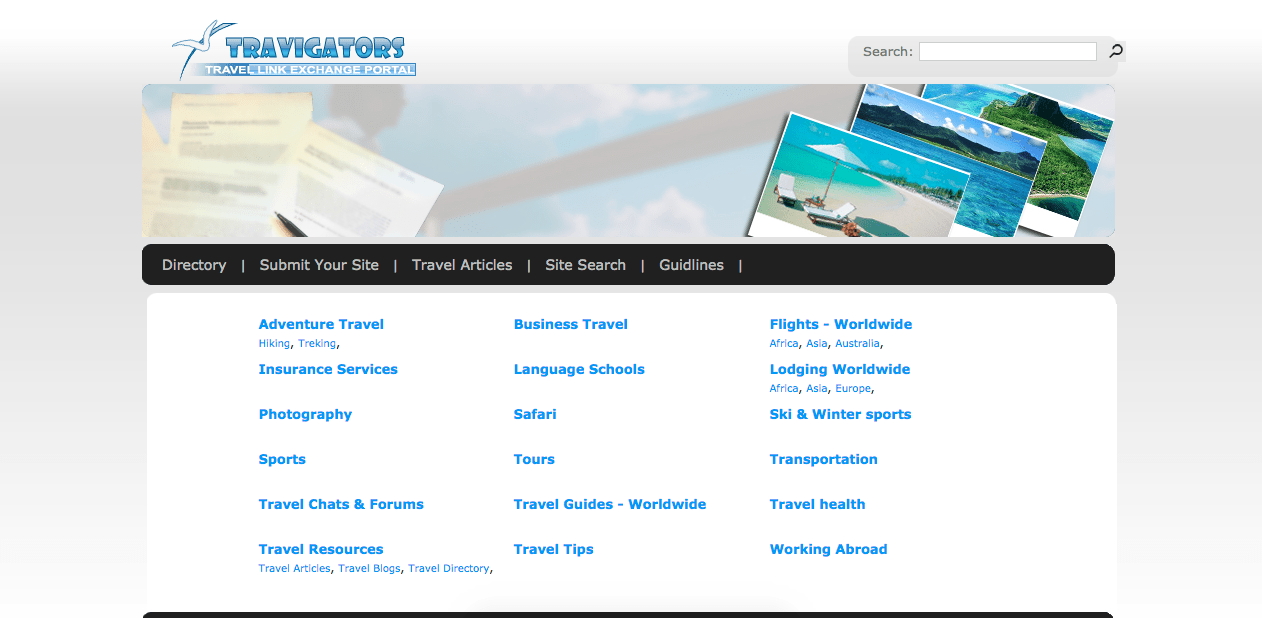 Homepage of travigators.com