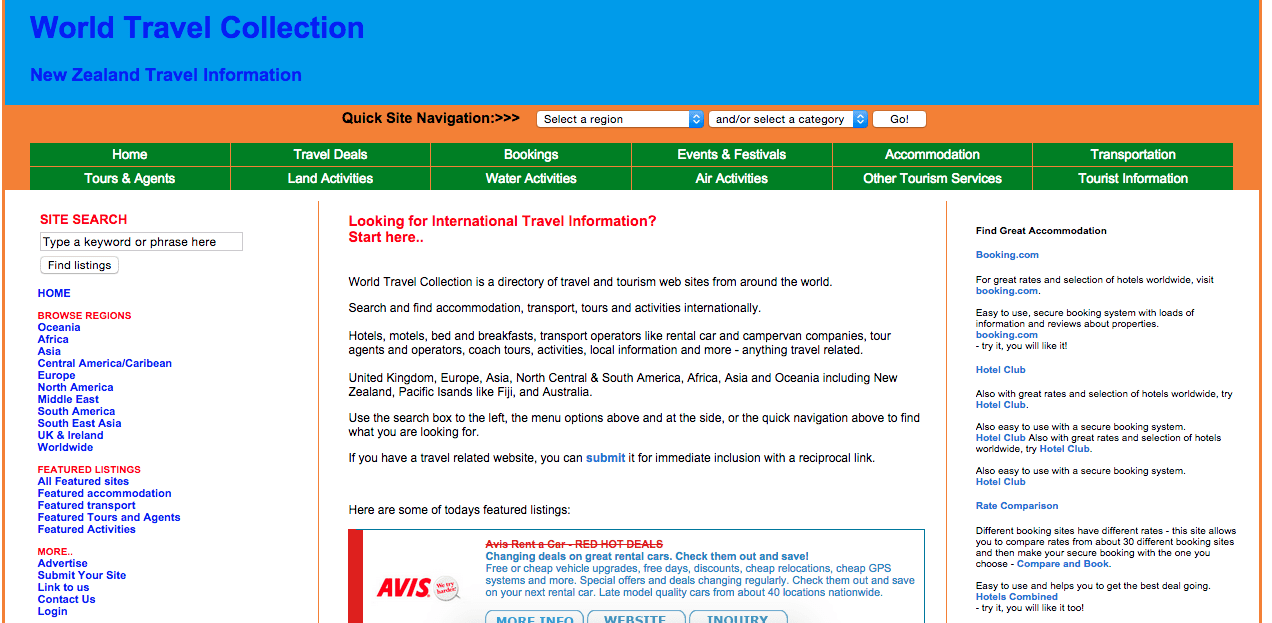 Homepage of worldtravelcollection.com