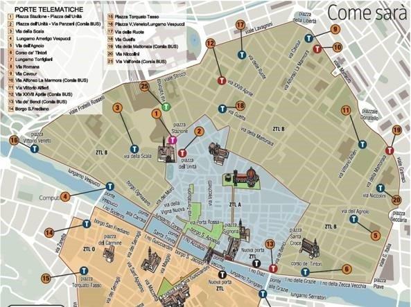Ztl Firenze Cartina.Informazioni Sui Viaggi In Bus A Firenze Rent Autobus