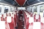 Five Star Coach Travel, Liverpool, Merseyside - red coach seats