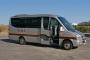 Luxury VIP Coach, Mercedes, Equipado con butacas tapizadas en piel,mesas plegables en cada butaca,posapies,cristales tintados y minivar, 2009, 19 seats
